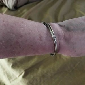 Jewelry - Pure silver adjustable slide thin band bracelet
